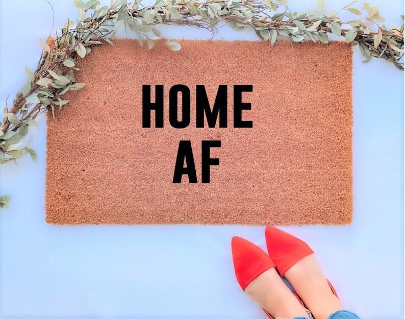 Home AF Doormat Funny Doormats Funny Home Decor Welcome image 0