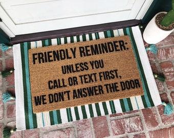 Friendly Reminder Doormat - Doormats - Funny Doormat - Funny Gift - Cute Doormat - Rug - Welcome Mat - Shop Josie B -