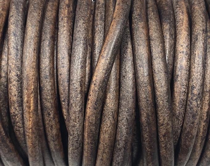 6mm Espresso Brown Round Leather Cord Premium Quality 6mm Round Leather Cord LCR6 - Espresso Brown #15