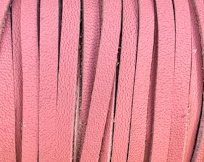 3mm Deertan Lace Pink Color 1 Yard Pink Deertan