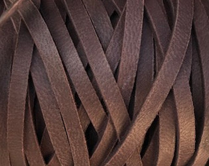 """Chocolate Brown 1/8"""" Deerskin Leather Lace Leather Cord BY THE YARD, Cord Bead, Deer Skin, Leather Supplies, Chocolate"""