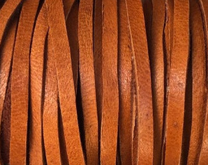 """Deerskin Saddle Leather Lace 1/8"""" Saddle Deerskin Leather Cord BY THE YARD, Cord Bead, Light Brown Deer Skin, Leather Supplies"""