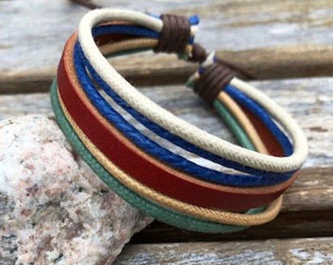 Women's Leather Bracelet Gift For Her Womens Bracelet Girlfriend Gift  Adjustable Bracelet JLA-5