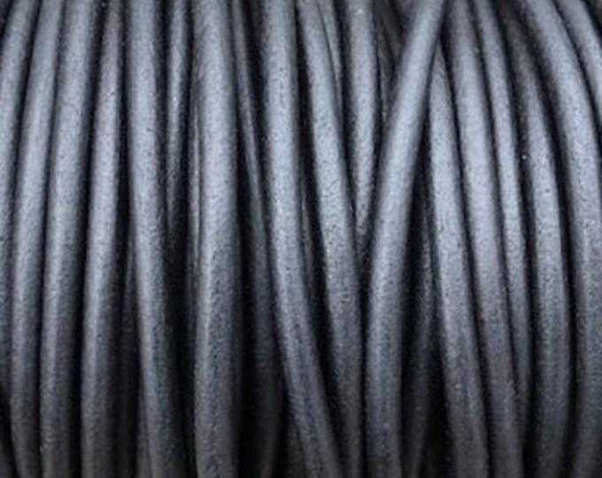 6mm Natural Black Round Leather Cord Premium Quality 6mm Round Leather Cord  LCR6 - Natural Matt Black #3