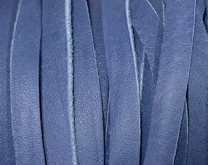 10mm Deertan Lace Dark Blue Color 1 Yard