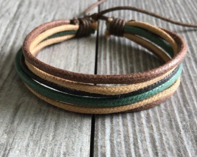 Hemp Bracelet, Vegan Jewellery, Hemp Cord Bracelet, Vegan Bracelet, Hemp Jewelry, Gifts Under 10,  HB-26