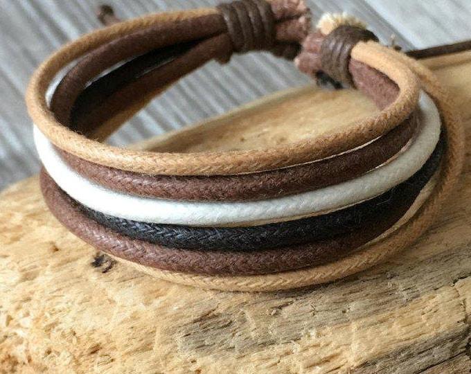 Vegan Bracelet, Vegan Jewellery, Hemp Cord Bracelet, Hemp Jewelry, Gifts Under 10 Well Made and Priced Right  HB-27