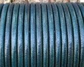 6mm Denim Distressed Round Leather Cord Premium Quality 6mm Round Leather Cord LCR6 - Distressed Denim 7
