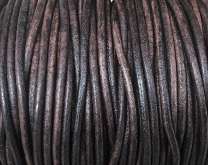 4mm Natural Dark Brown Round Leather Cord Premium Quality 4mm Round Leather Cord  LCR4 - 4mm Natural Dark Brown #16