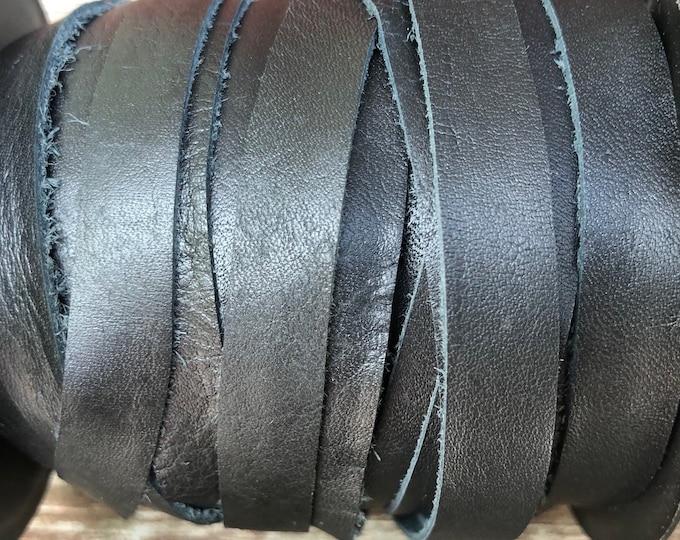 10mm Deertan Lace Black Color 1 Yard