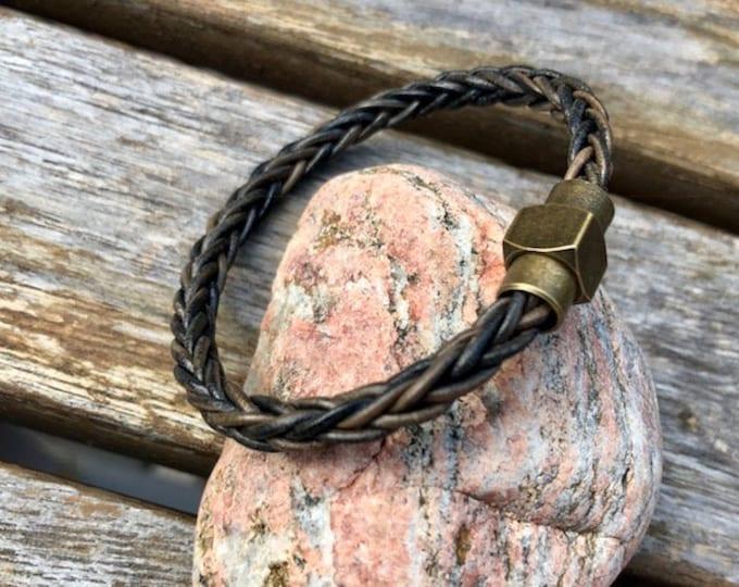 Men's Leather bracelet Mens Gifts Under 20 Boyfriend Gift For Dad Husband Gift Mens Bracelet Mens gift Anniversary Gift for Him CS-22