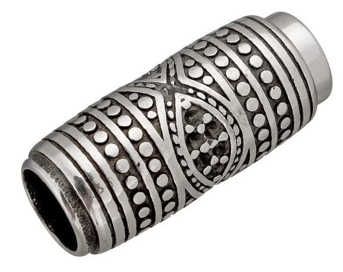 Stainless Steel Magnetic Clasp Oval Blacken 9mm Hole Size Strong magnet High-Quality MC-35A