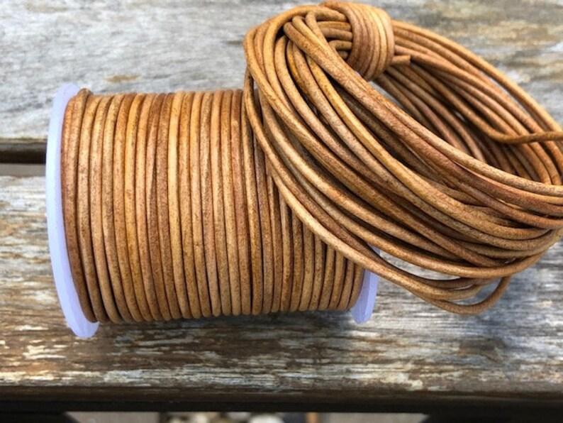 1.5mm Dark Brown Round Leather Cord 10 Yards Jewelry Supplies