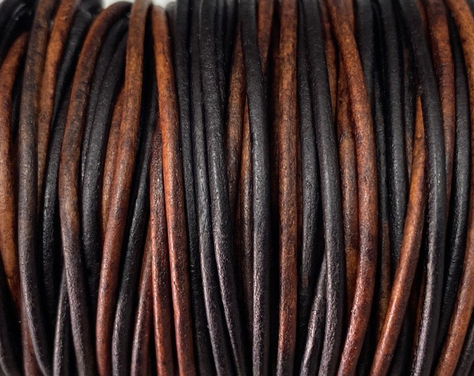 1.5mm Gypsy Sippa Round Leather Cord - By The Yard - Genuine Indian Leather - LCR1.5 - Gypsy Sippa #6