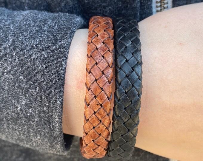Mens Leather Bracelet, Mens Bracelet, Leather Bracelet, Men Leather Bracelet, Bracelet for Man, Braided Bracelet, Man Bracelet, Gift for Men