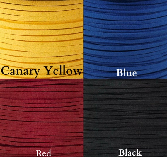 3MM x 1.5MM Faux Suede Cord 10 yards leather Lace Making Bracelet You Pick Color