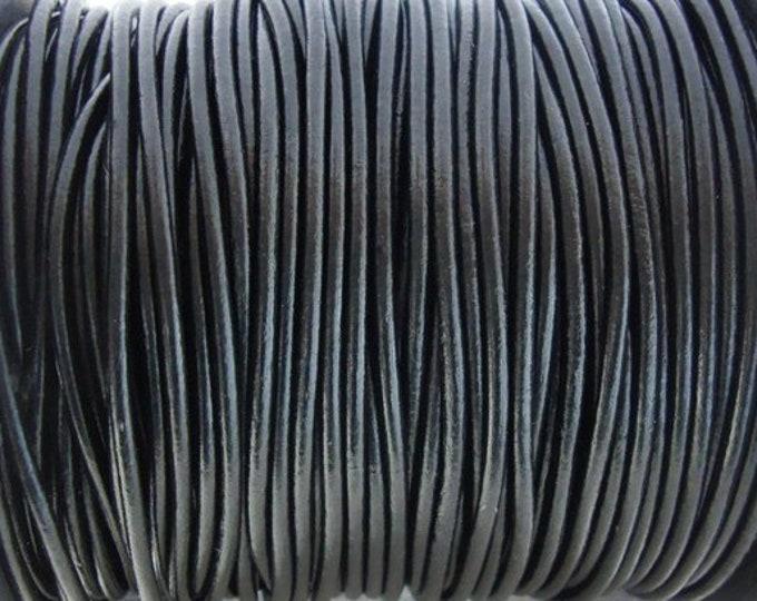 1mm Leather Cord - Black- Premium European Leather Cord - LCR1 - 200 #1 Black