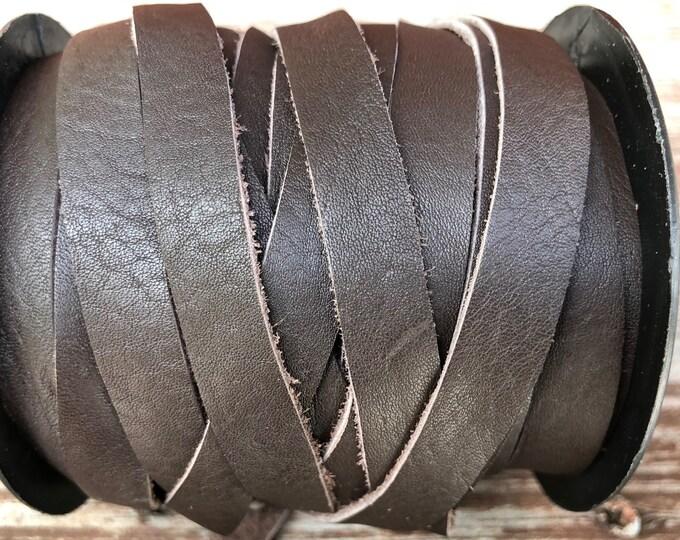 10mm Deertan Lace Dark Brown Color 1 Yard