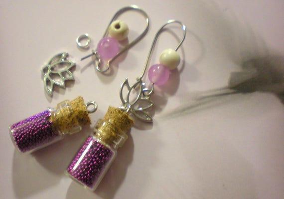 Multi Color Pearl Silver Hook Boucles d/'oreilles