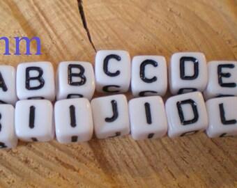 """Set of 20 letters """"A B C I D E F J M L O"""" cube of 0.5 mm wide"""