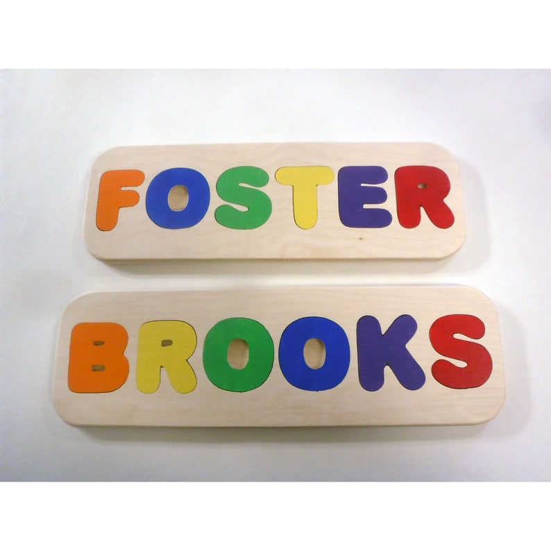 Wooden Name Puzzle  Handmade name puzzle  custom name image 0