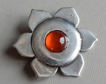 Sacral (2nd) Chakra Pendant in Sterling Silver