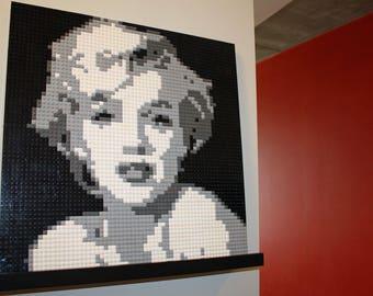 """Marilyn Monroe LEGO Mosaic Art -- 20"""" x 20"""""""