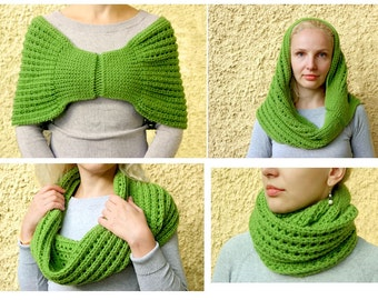English+German. Crochet pattern for Shoulder Shrug. Timeless and easy to make: this pattern has it all.