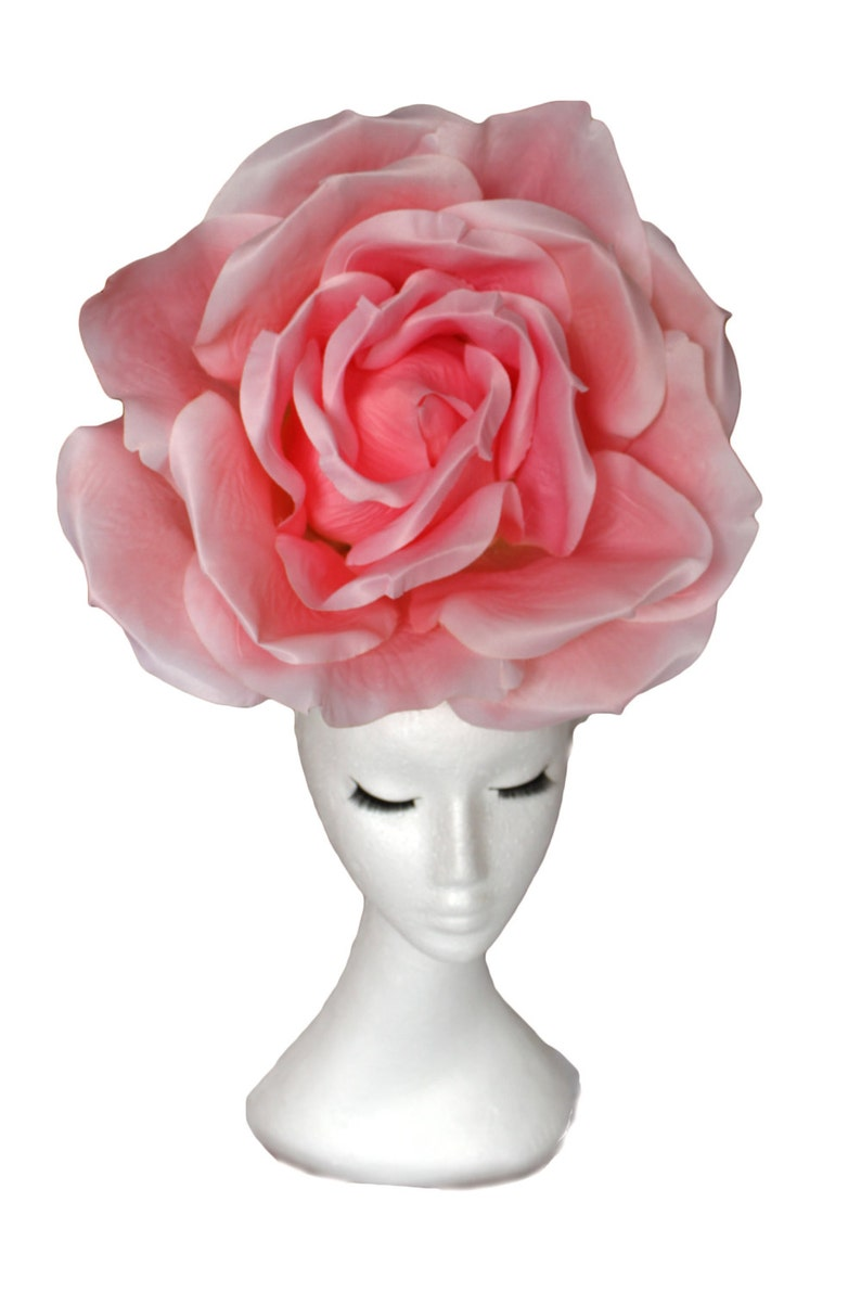 Huge Rose Hat Pink Red Wedding Hat Giant Rose Hatinator Pink  09bf66a6100