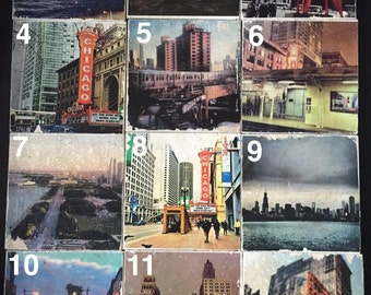 Chicago photography coasters/Stone/Photo transfer/Custom