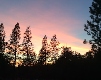 Photo Painted Sky Southern Oregon