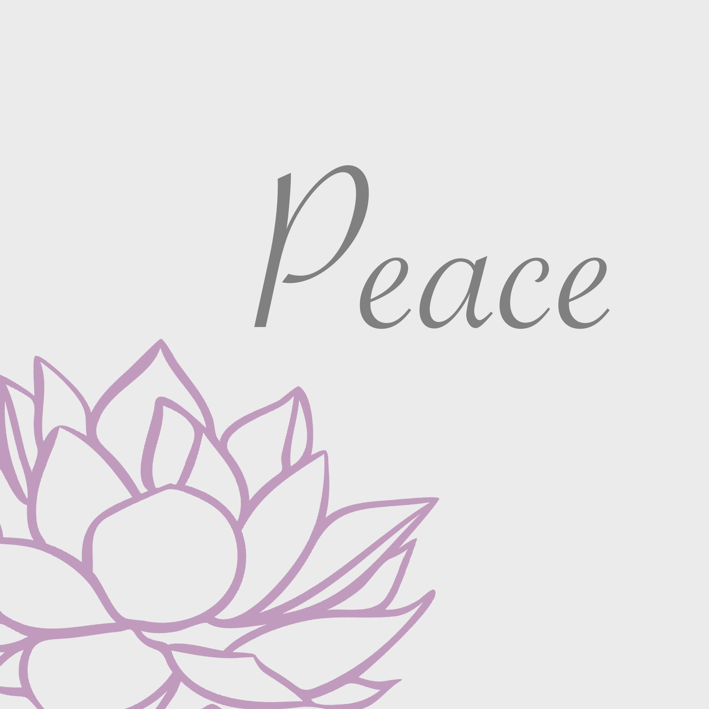 Lotus Flower Peace Art Home Decor High Quality Pdf File Etsy