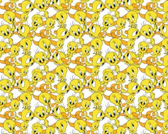 Camelot Fabrics Looney Tunes Tweety Bird Expressions 100% quilt shop Cotton by the Yard
