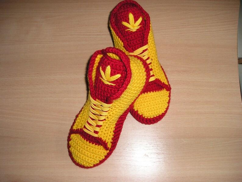 Adidas haak schoenen pantoffels mannen wol Womens gebreide sloffen