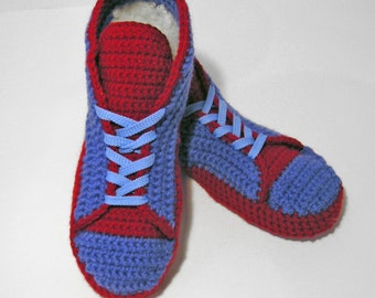 Shoes Soft Adult/ Crochet Wool Sneakers/Felted Slippers/Various Color Boots/ Gift for Him and Her