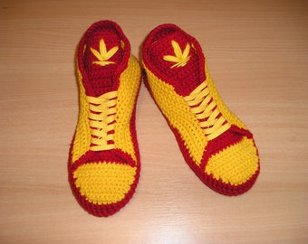 Adidas Crochet Shoes/ Slippers Men Wool/ Womens Knitted Slippers