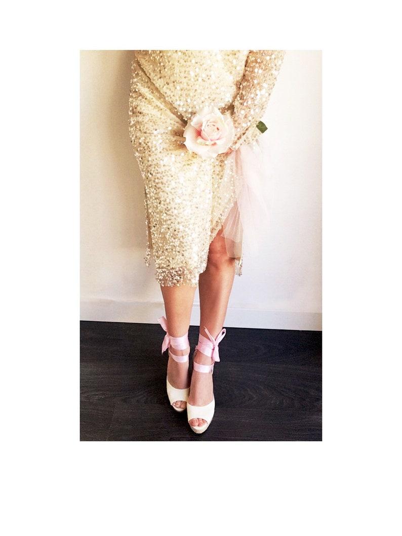 502c7962e7521 BOHOPINK Peep Toe IVORY Platform Wedge Blush Pink Lace Up Espadrille Boho  style Wedding, open toe, bridal, comfortable wedding, bridesmaid