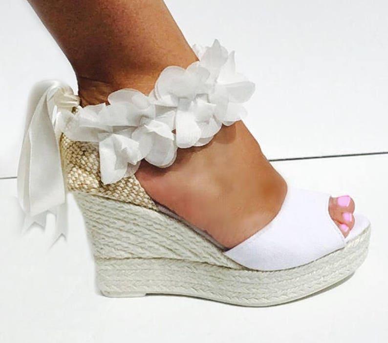 Boho Lace Up Platform Sandals