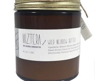 Wild Meadow Butter. Whipped butter. Valentine's Day Gift. Jojoba Oil. Cedarwood, Basil, Clary Sage. Green Butter. Herbal Body butter