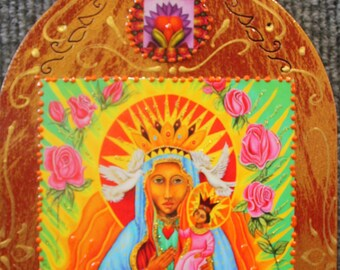 Black Madonna, Our Lady of Czestochowa,Catholic Icon,Virgin Mary,Erzulie Danta,Black Virgin Mary,Guadalupe art,Sacred art,Black Madonna icon