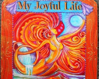 inspirational art, Oracle card Flow, New Orleans oracle card, positive words, healing art, meditation room art, yoga room art, sacred art