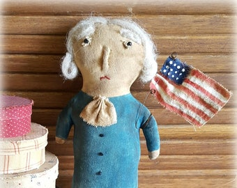George Washington Cupboard Tuck Folk Art Doll Epattern