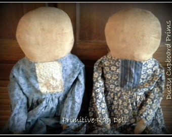Primitive Rag Doll ~E pattern everyday doll sewing pattern