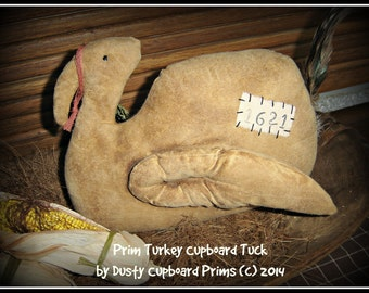 Prim Turkey Cupboard Tuck Autumn Fall sewing  e-pattern