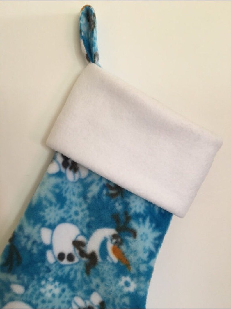 Personalize this Frozen-Olaf Fleece Stocking