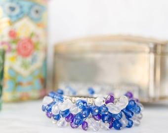 Summer Wedding Jewelry - Vintage Cha Cha Bracelet - Boho Spring Bracelet for - 1950s Fashion - Mad Men GIft For Her