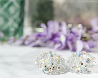Aurora Borealis Crystal Earrings - Mad Men  Fashion - Bridal Jewelry for Your Summer Wedding