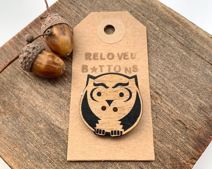 Owl Pin Badge