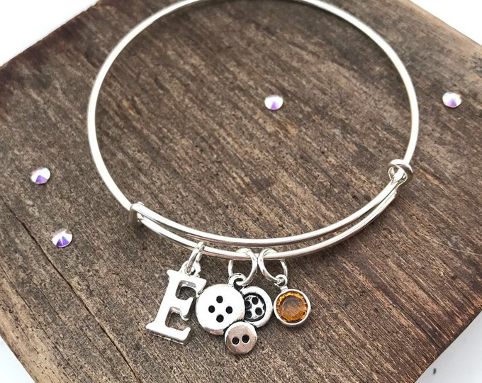 Birthstone charm bracelet, birthstone bracelet, silver birthstone bracelet, personalised charm bracelet, charm bangle, birthstone bangle,