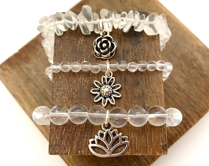 Crystal Quart Bracelet - Healing